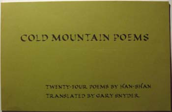 Image for Cold Mountain Poems:  Twenty-Four Poems By Han-Shan