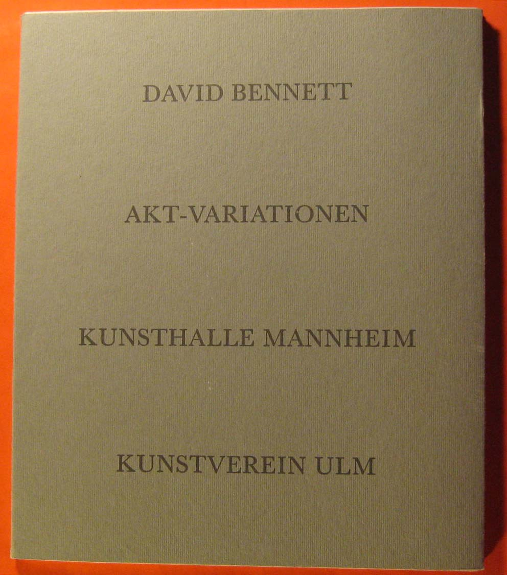 Image for David Bennett:   Akt-Variationen