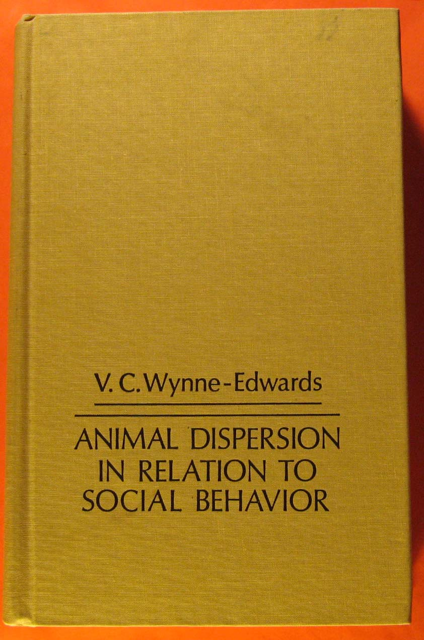 Image for Animal Dispersion in Relation to Social Behaviour