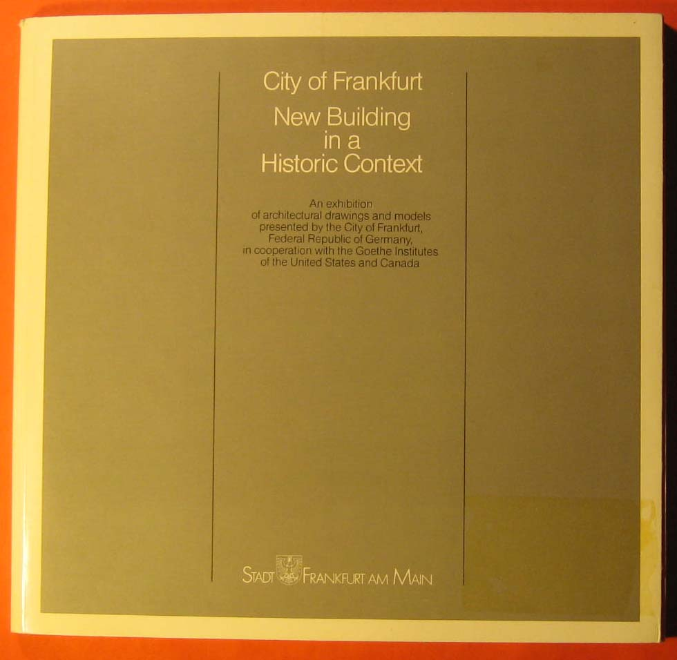 Image for City of Frankfurt: New Building in a Historic Context