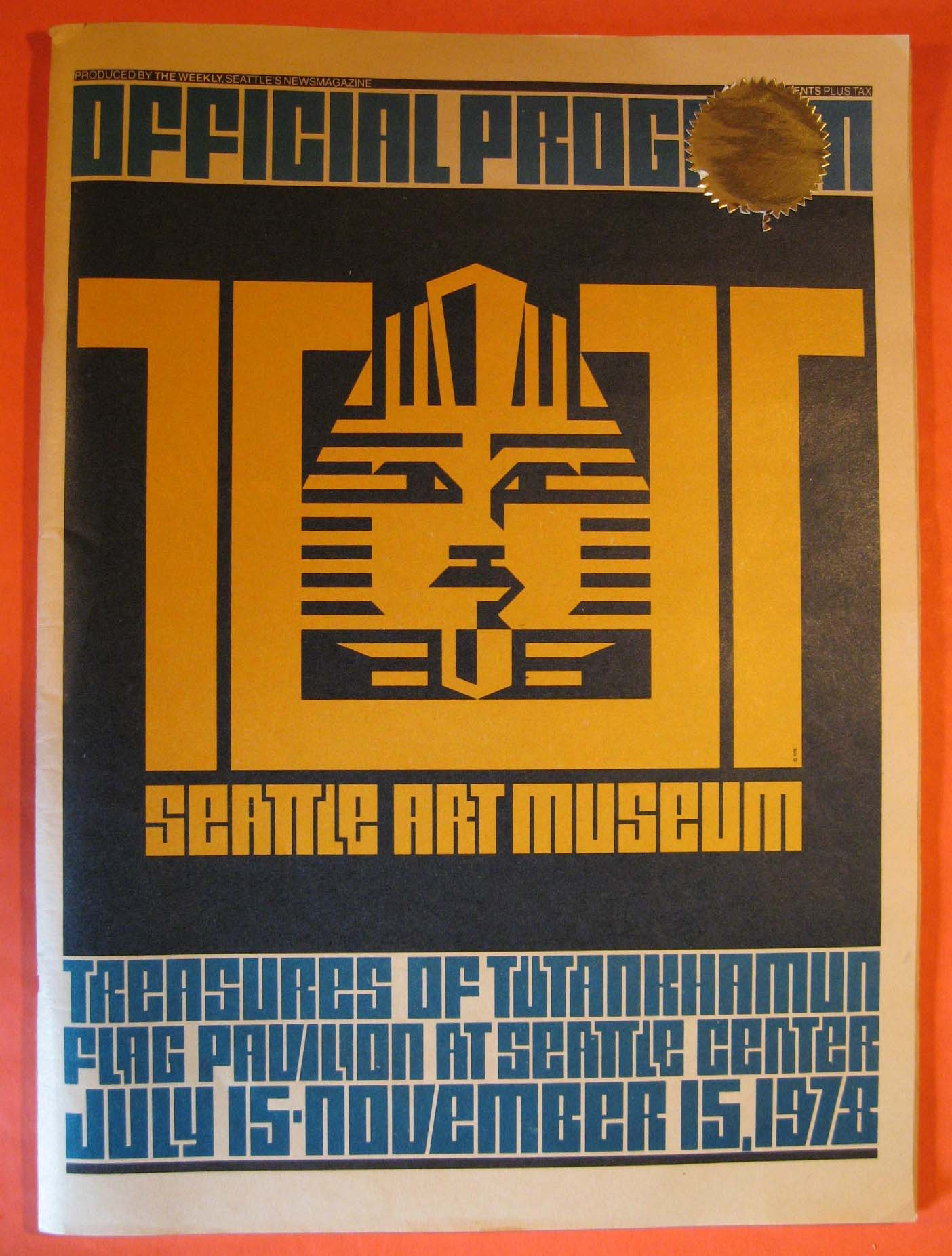 Image for Official Program: Tut:  Seattle Art Museum: Treasures of Tutankhamun Flag Pavilion at Seattle Center July 15 - November 15, 1978