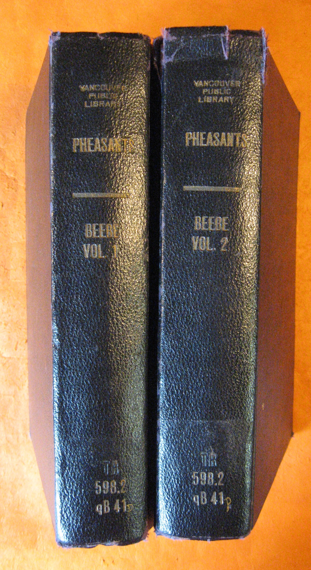 Pheasants:  Their Lives and Homes (Two Volumes), Beebe, William