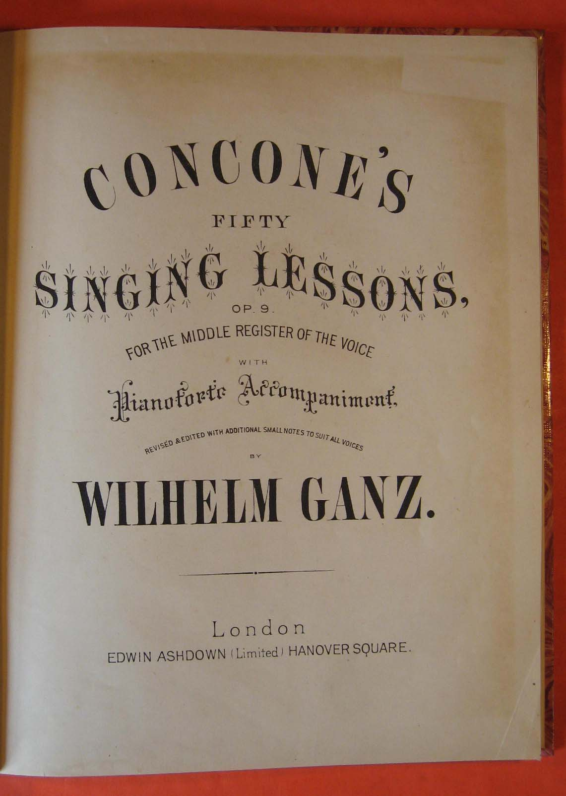 Image for Concone's Fifty Singing Lessons, for the Middle Register of the Voice, with Pianoforte Accompaniment