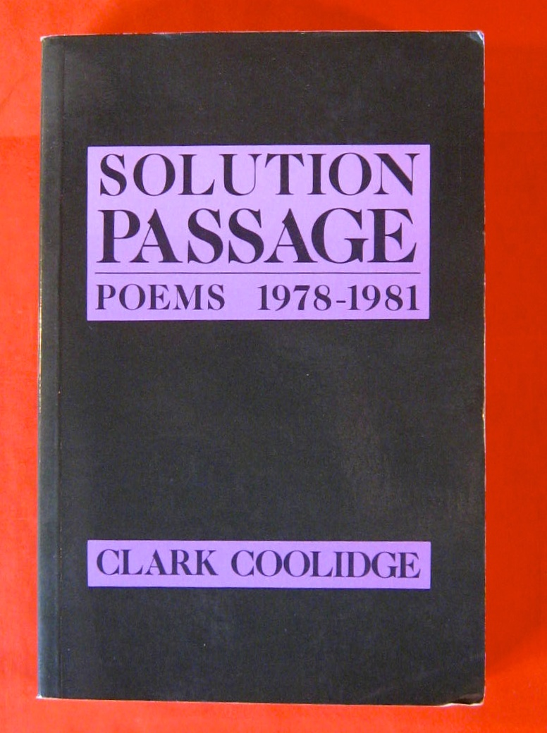 Image for Solution Passage: Poems, 1978-1981