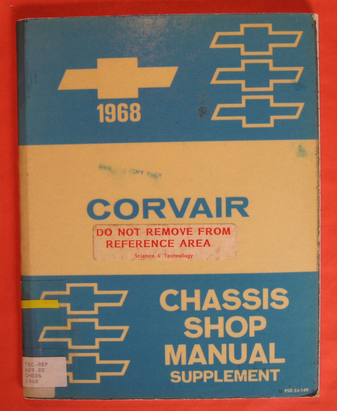 Image for 1968 Chevrolet Corvair Chassis Shop Manual Supplement