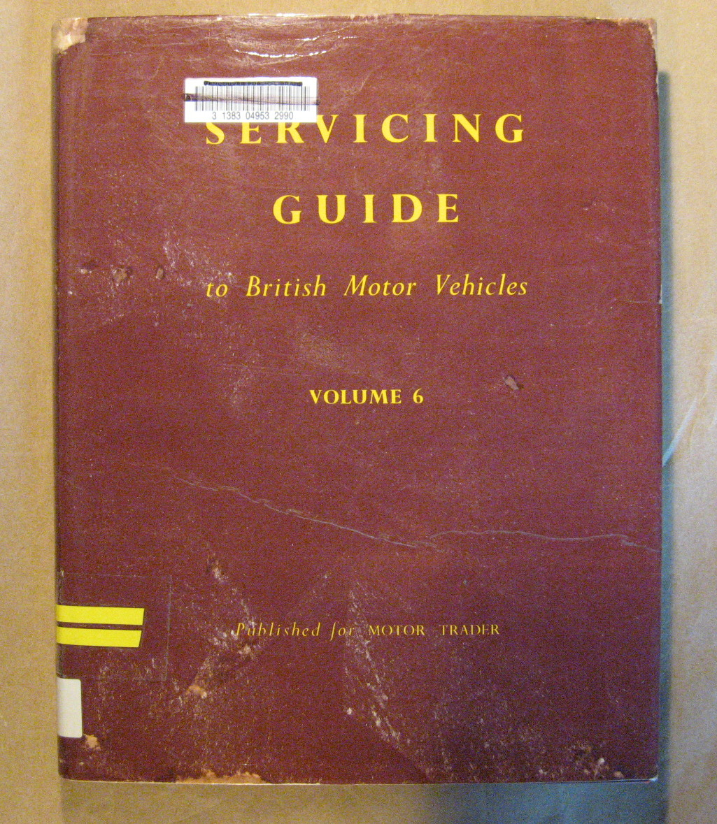 Image for Servicing Guide to British Motor Vehicles Vol. 6: Cars, Commercial Vehicles, Diesel Engines and Components