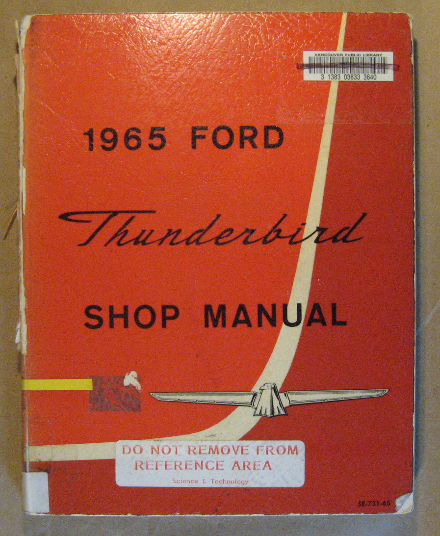 Image for 1965 Thunderbird Shop Manual