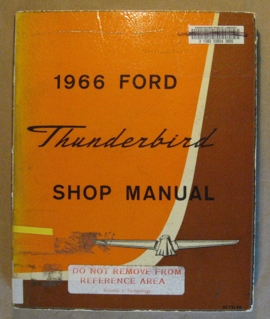 Image for 1966 Thunderbird Shop Manual