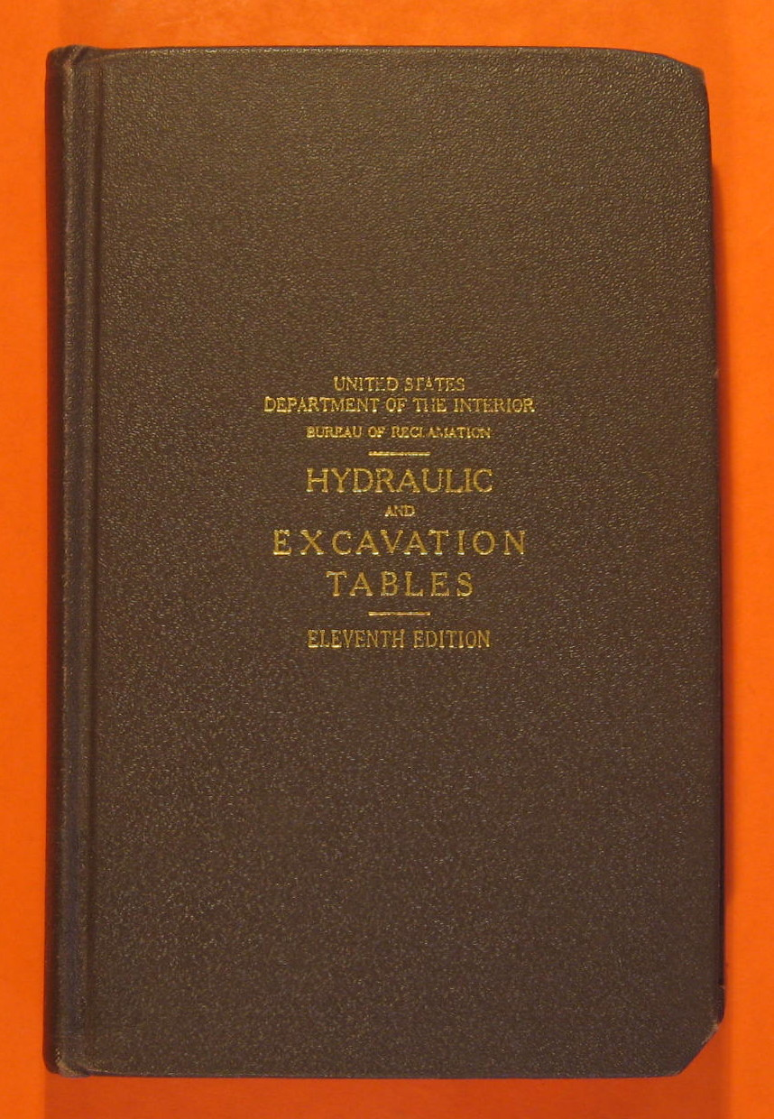 Hydraulic and Excavation Tables Eleventh Edition