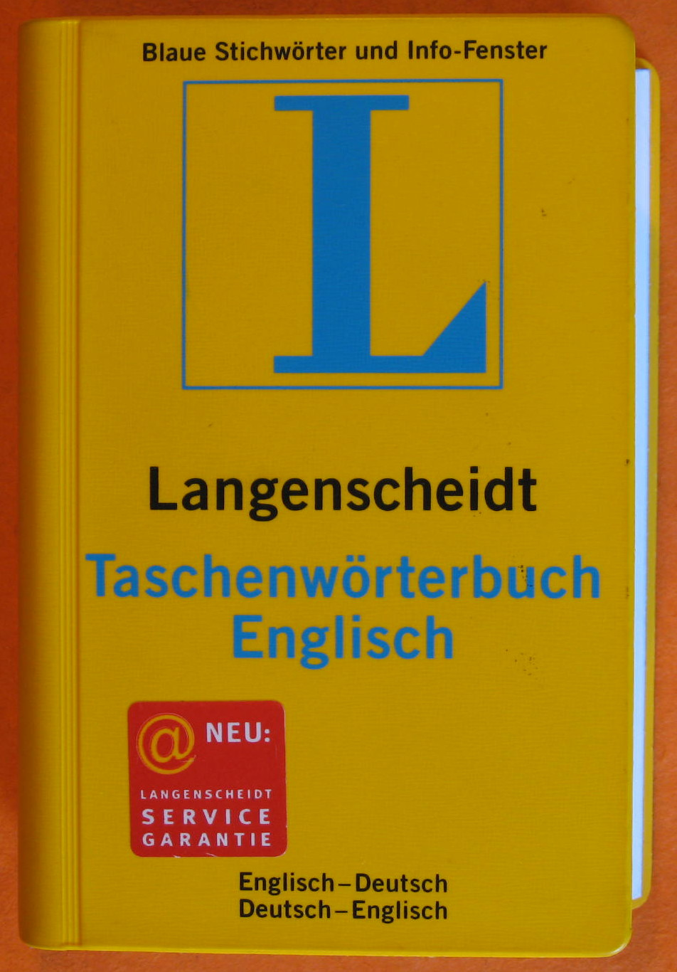 Englisch-Deutsch / Deutsch-Englisch. Taschenwörterbuch. Langenscheidt. Neues Cover. English - Dutch, Dutch - English Dictionary, No Author