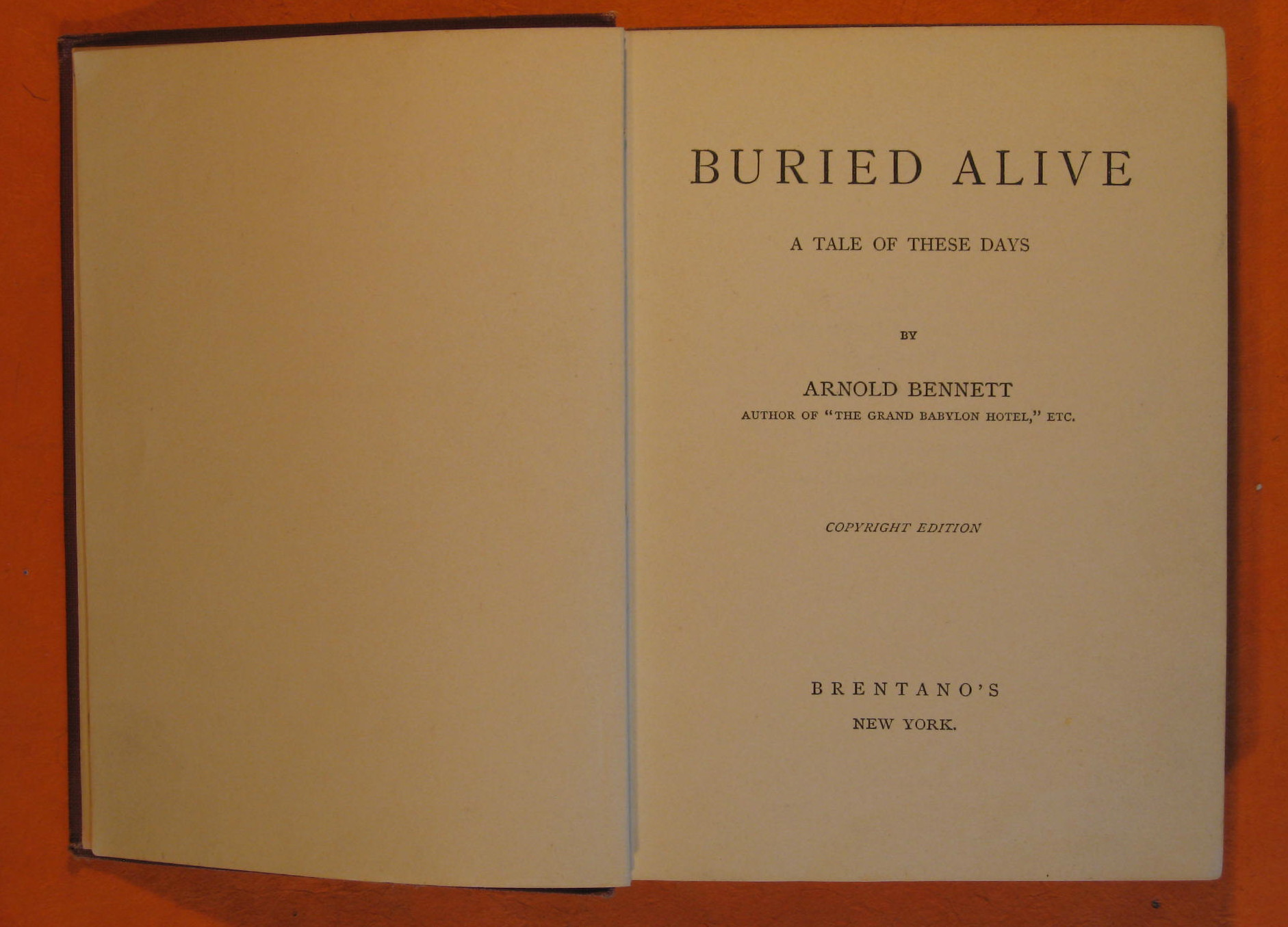 Buried Alive:  A Tale of These Days, Bennett, Arnold