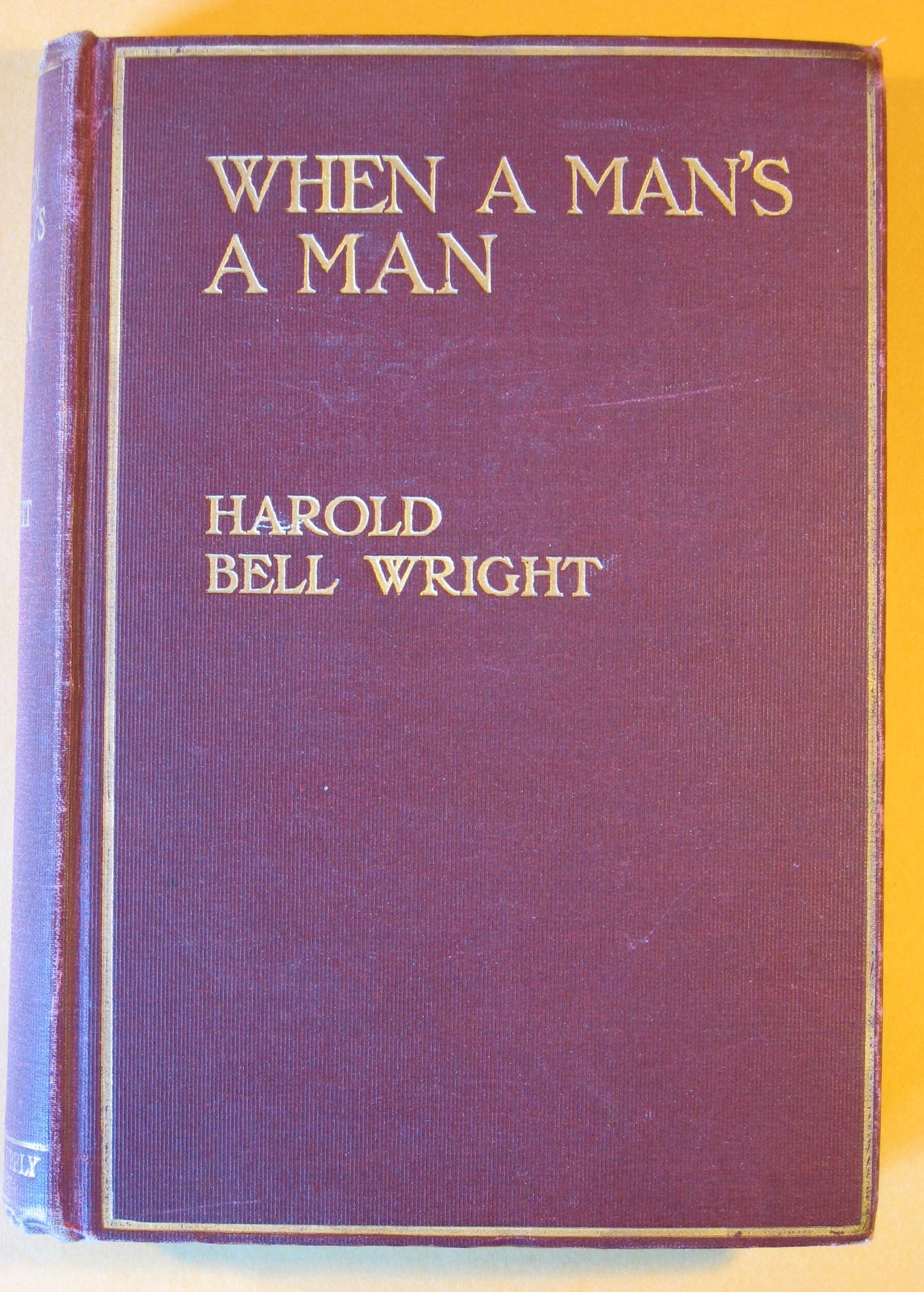 Image for When a Man's a Man
