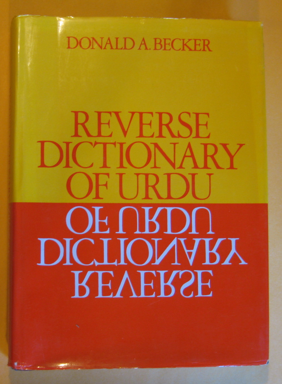 A Reverse Dictionary of Urdu, Becker, Donald a Narang, Gopi Chand