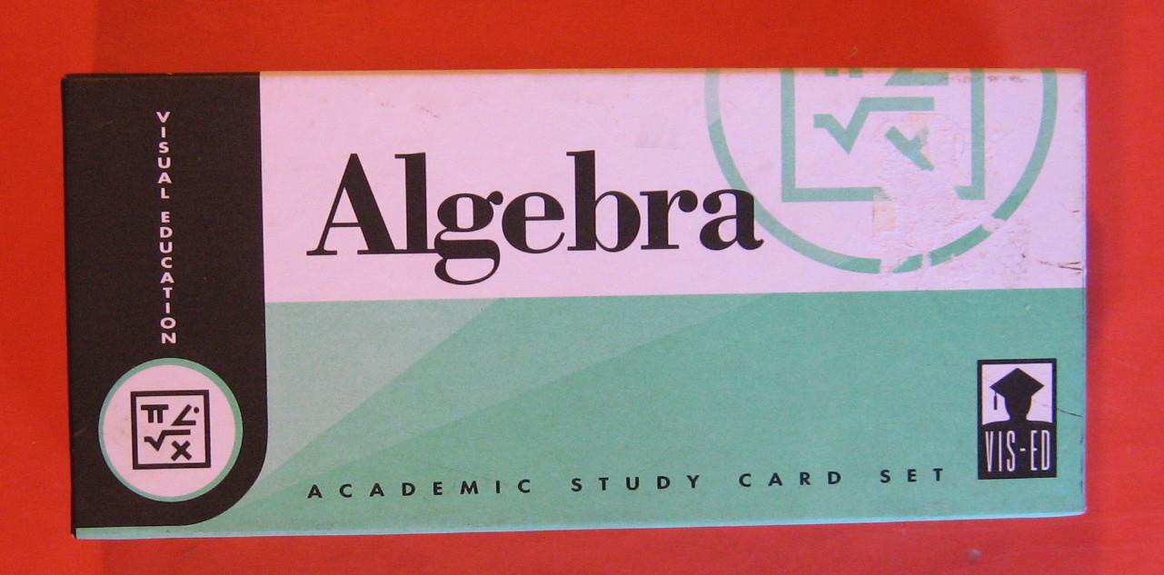 Image for Algebra Academic Study Card Set