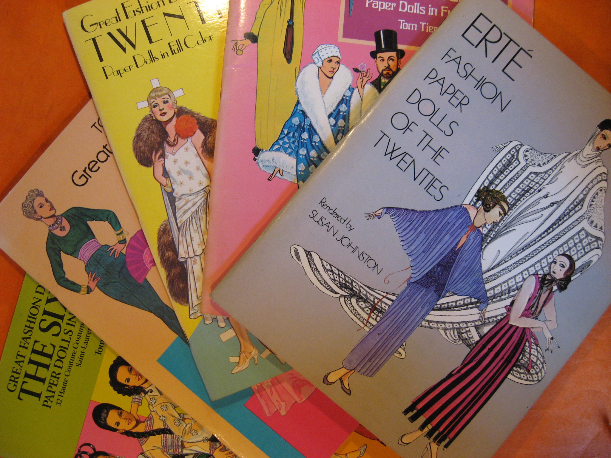 Set of Five Dover Fashion Paper Doll Books