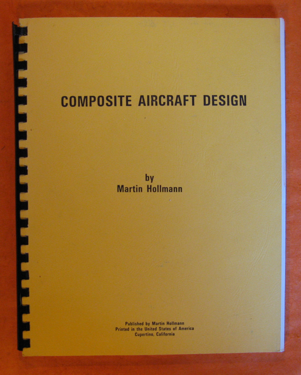Composite Aircraft Design, Hollmann, Martin