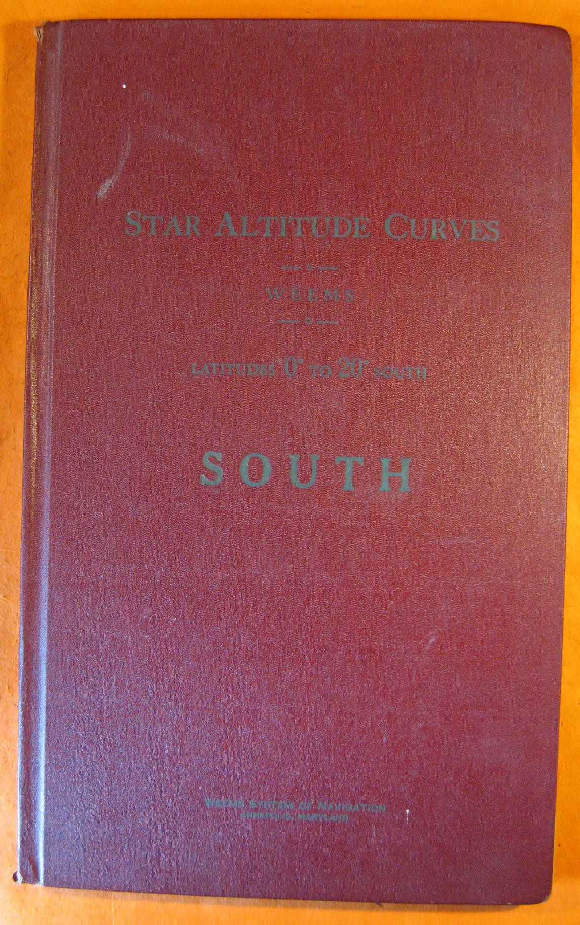 Star Altitude Curves Latitudes 0 Degrees to 20 Degrees South, Weems