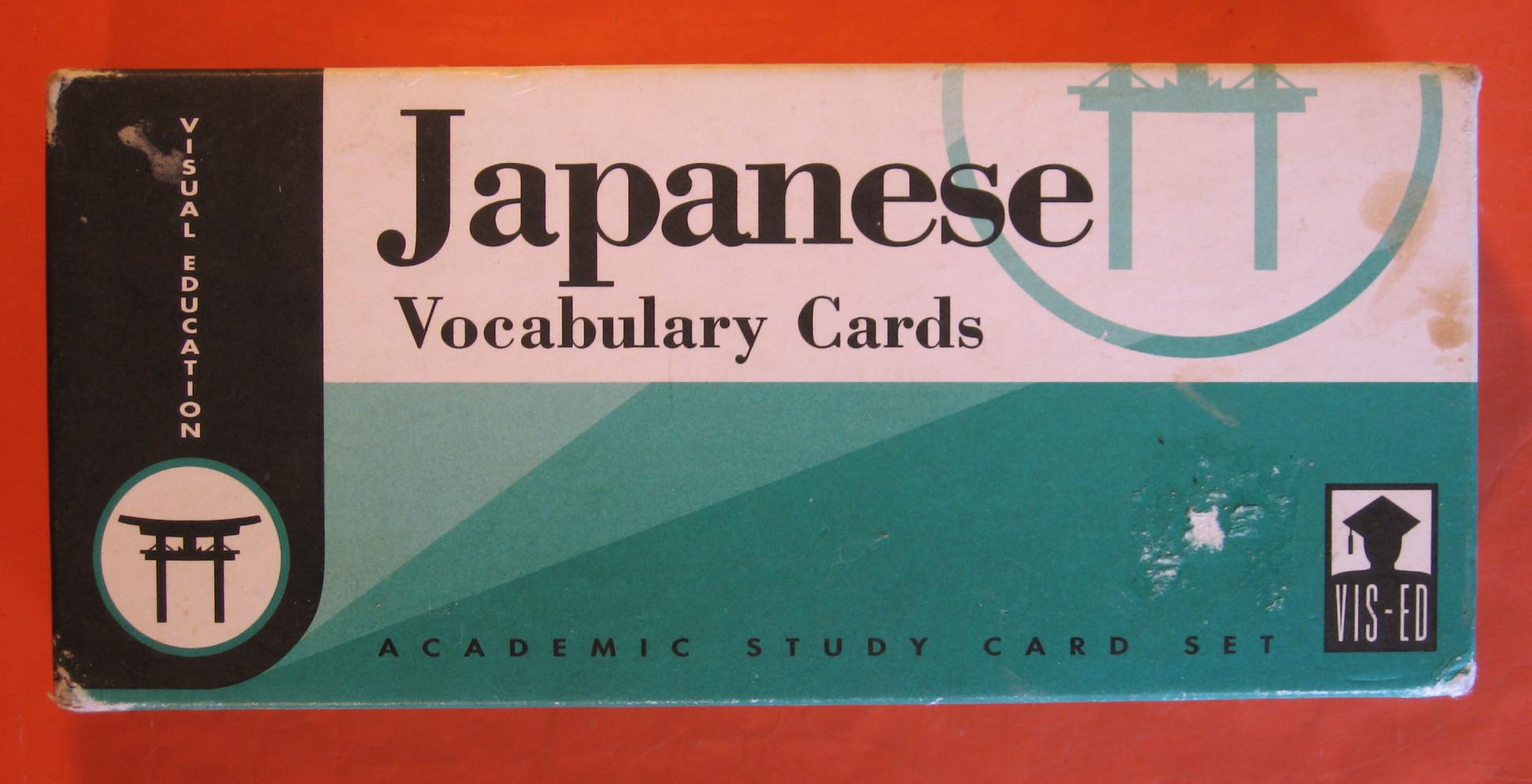 Japanese Vocabulary Cards:  Japanese/English, English/Japanese, Chang, Andrew C.; Horne, Mayumi