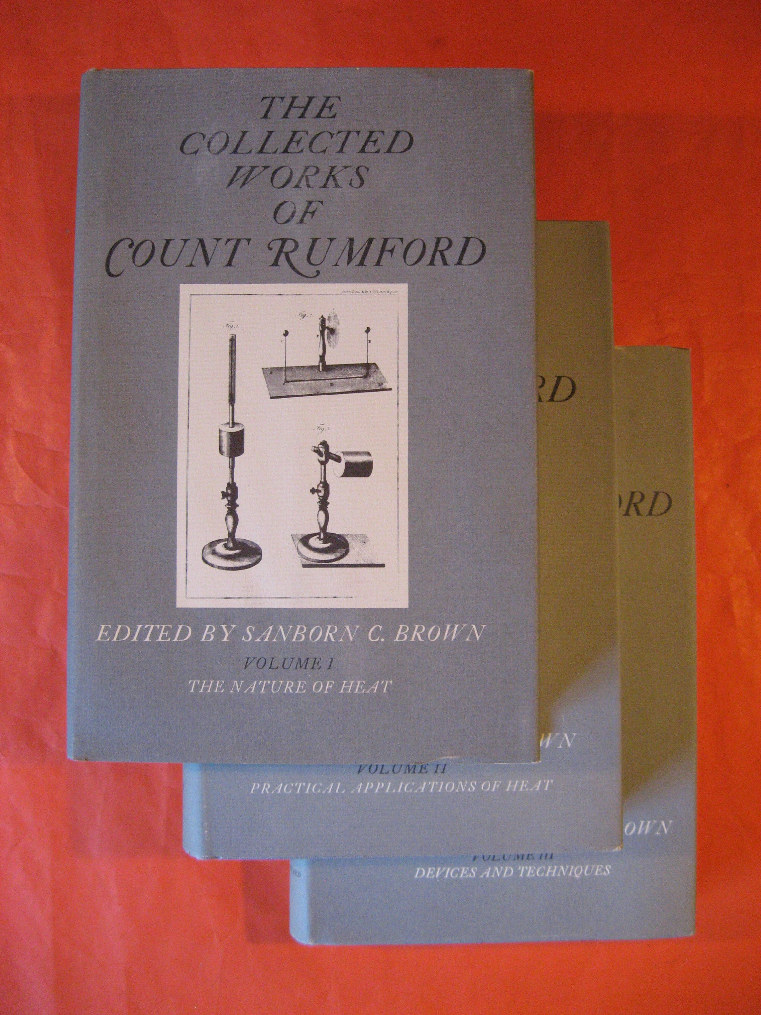 Collected Works of Count Rumford (Volumes I - III), Count Rumford; Brown, Sanborn C.