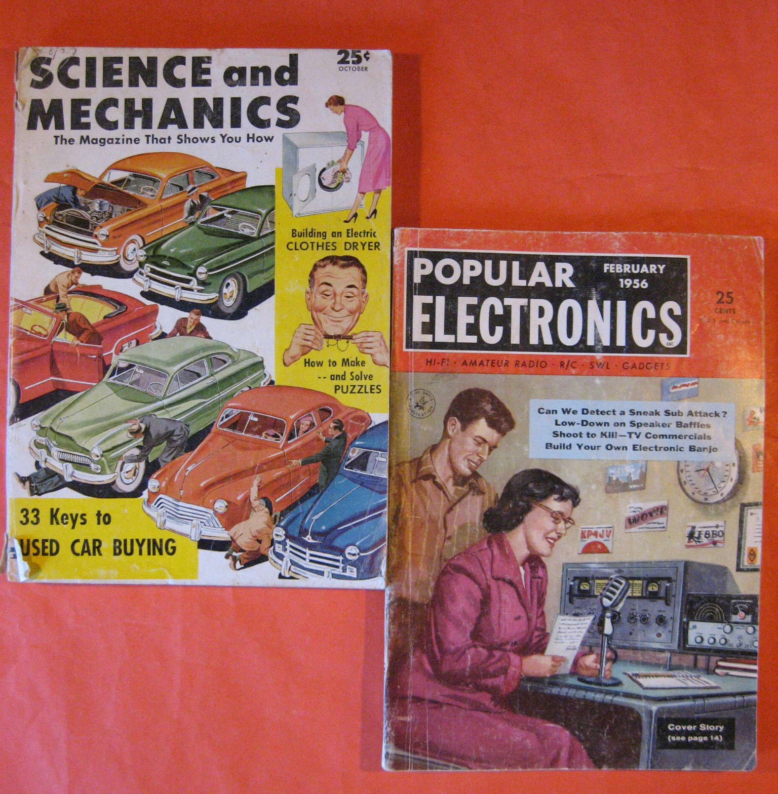Two Fifties Science Magazines