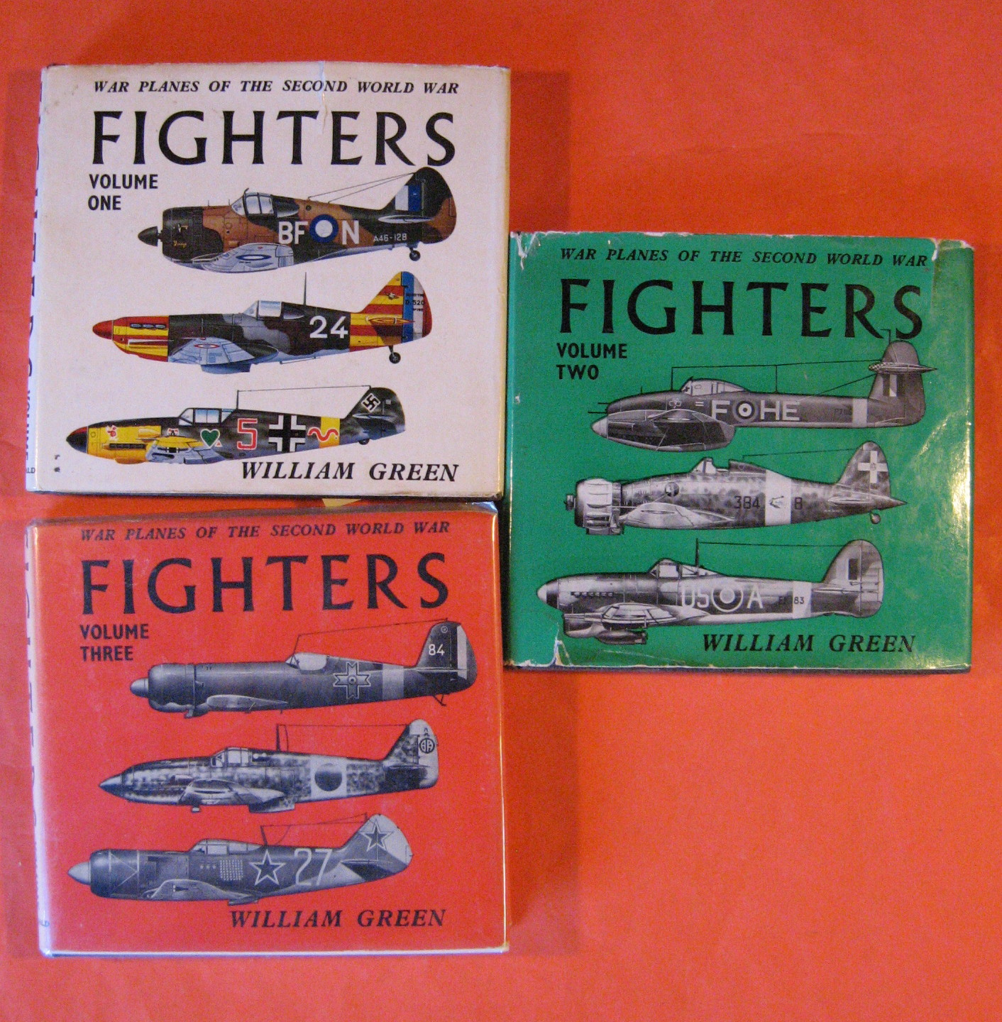 Fighters: War Planes of the Second World War: Volume  One, Two and Three, Green, William
