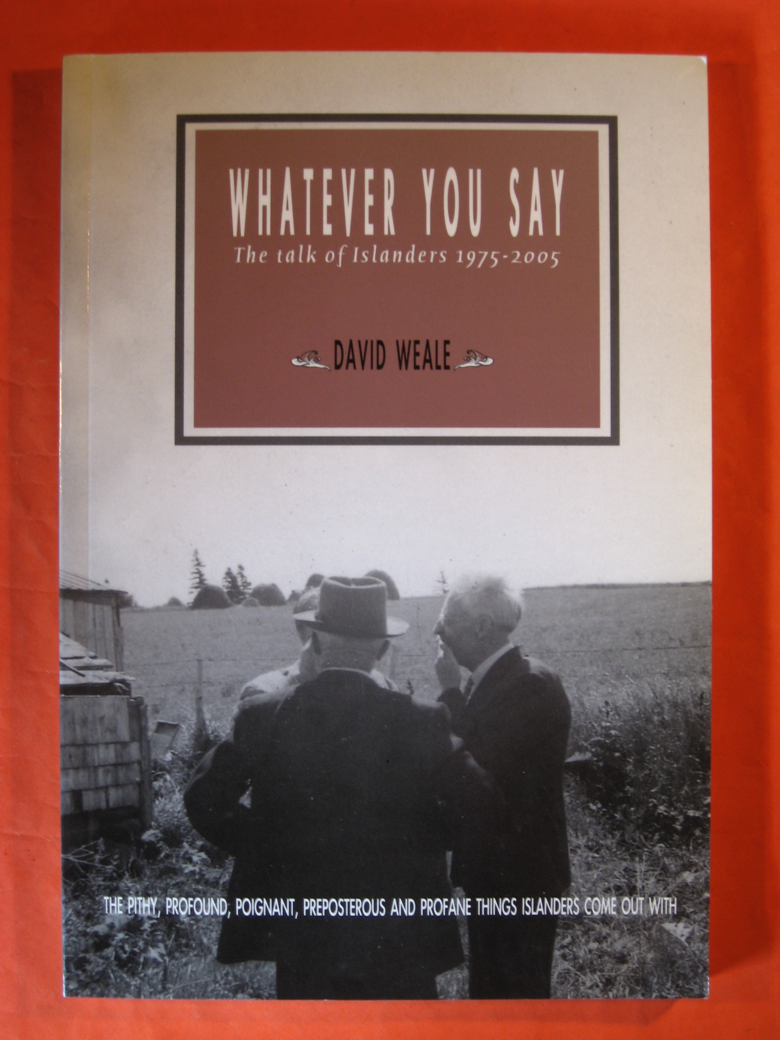 Whatever You Say the Talk of Islanders 1975 - 2005, David Weale