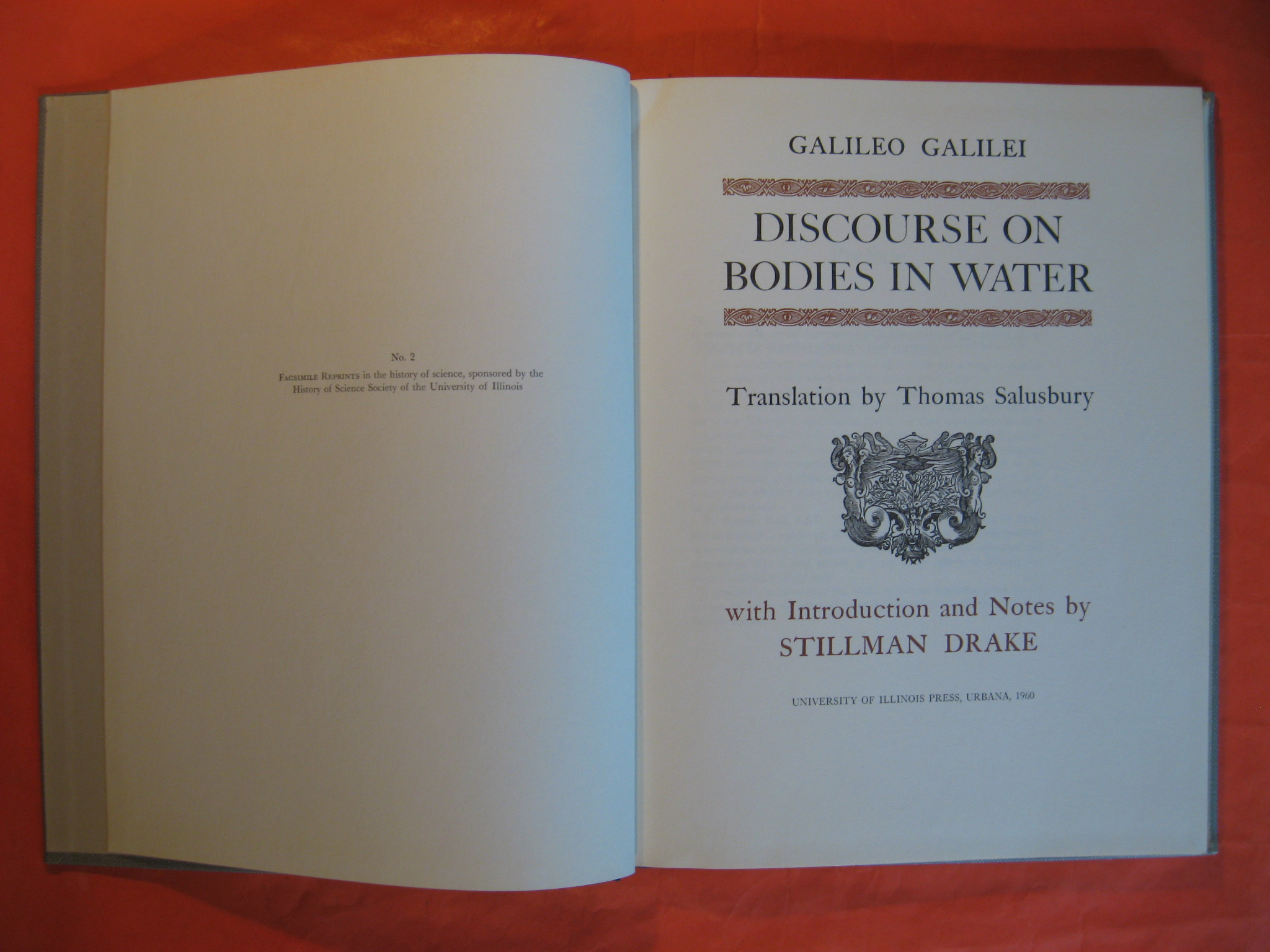 Discourse on Bodies in Water, Galilei, Galileo; Salusbury, Thomas