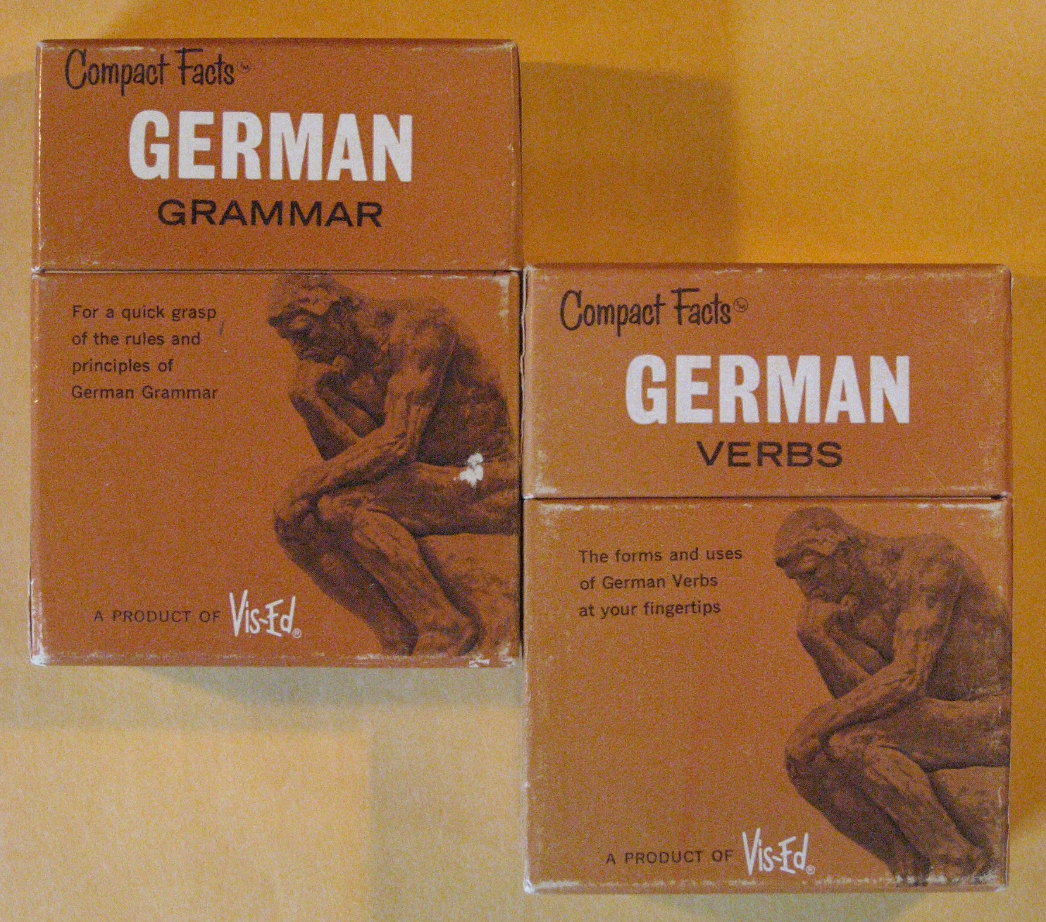 Two Vis-ed German Card Sets