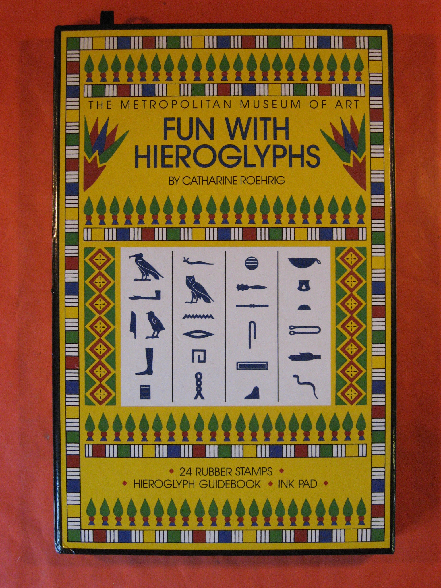 Fun with Hieroglyphs: 24 Rubber Stamps, Hieroglyph Guidebook, Ink Pad (Box Set) (The Metropolitan Museum of Art), Catharine Roehrig