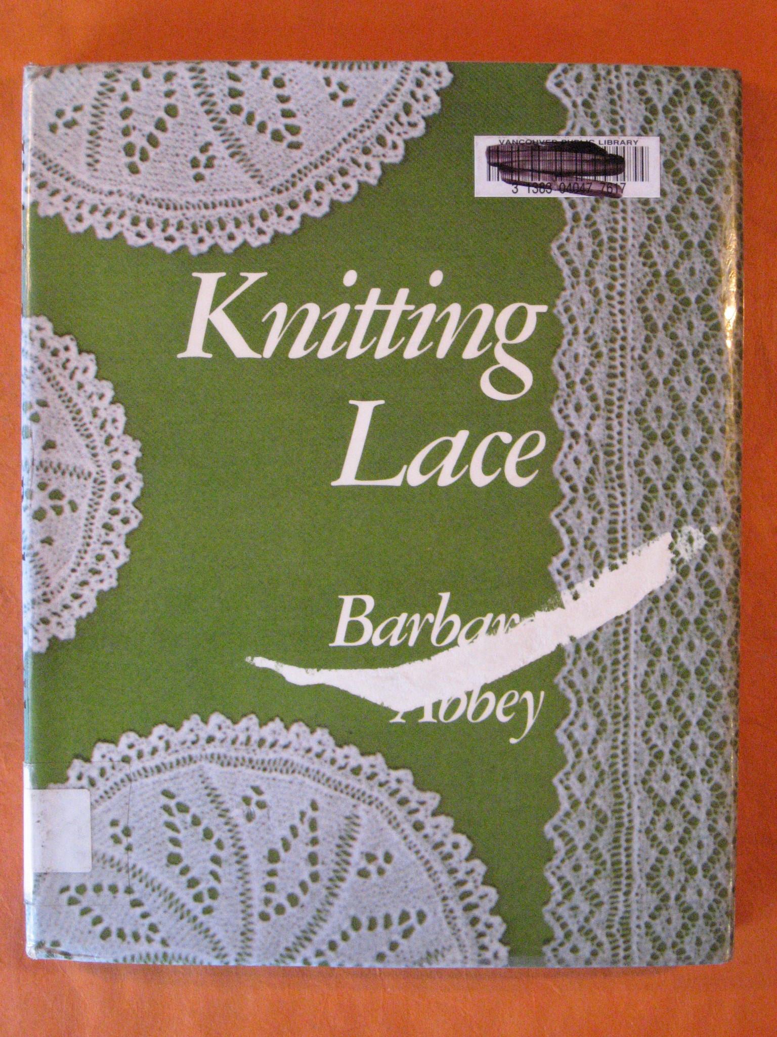 Knitting Lace, Abbey, Barbara