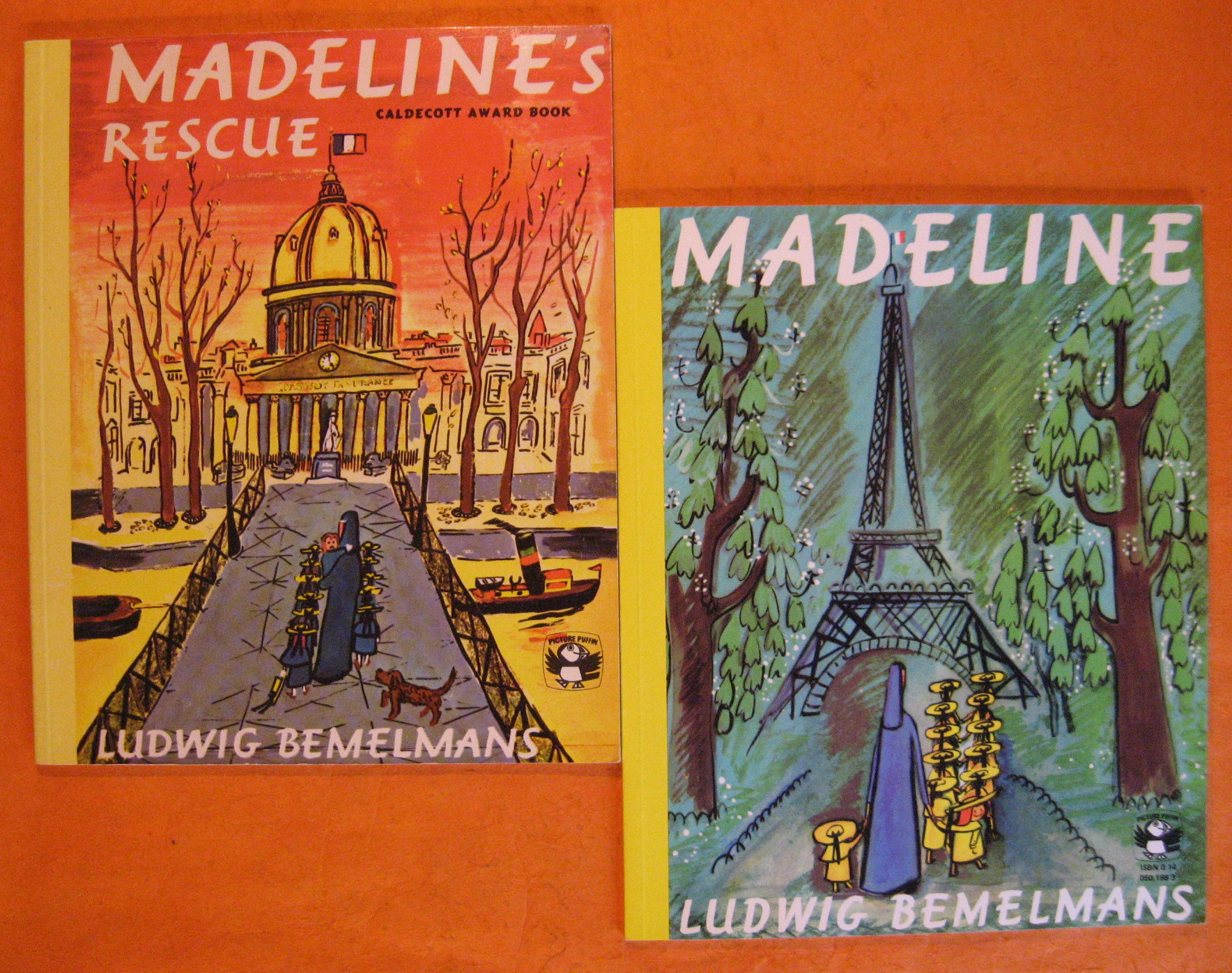 Two Madeline Books:  Madeline / Madeline's Rescue, Bemelmans, Ludwig