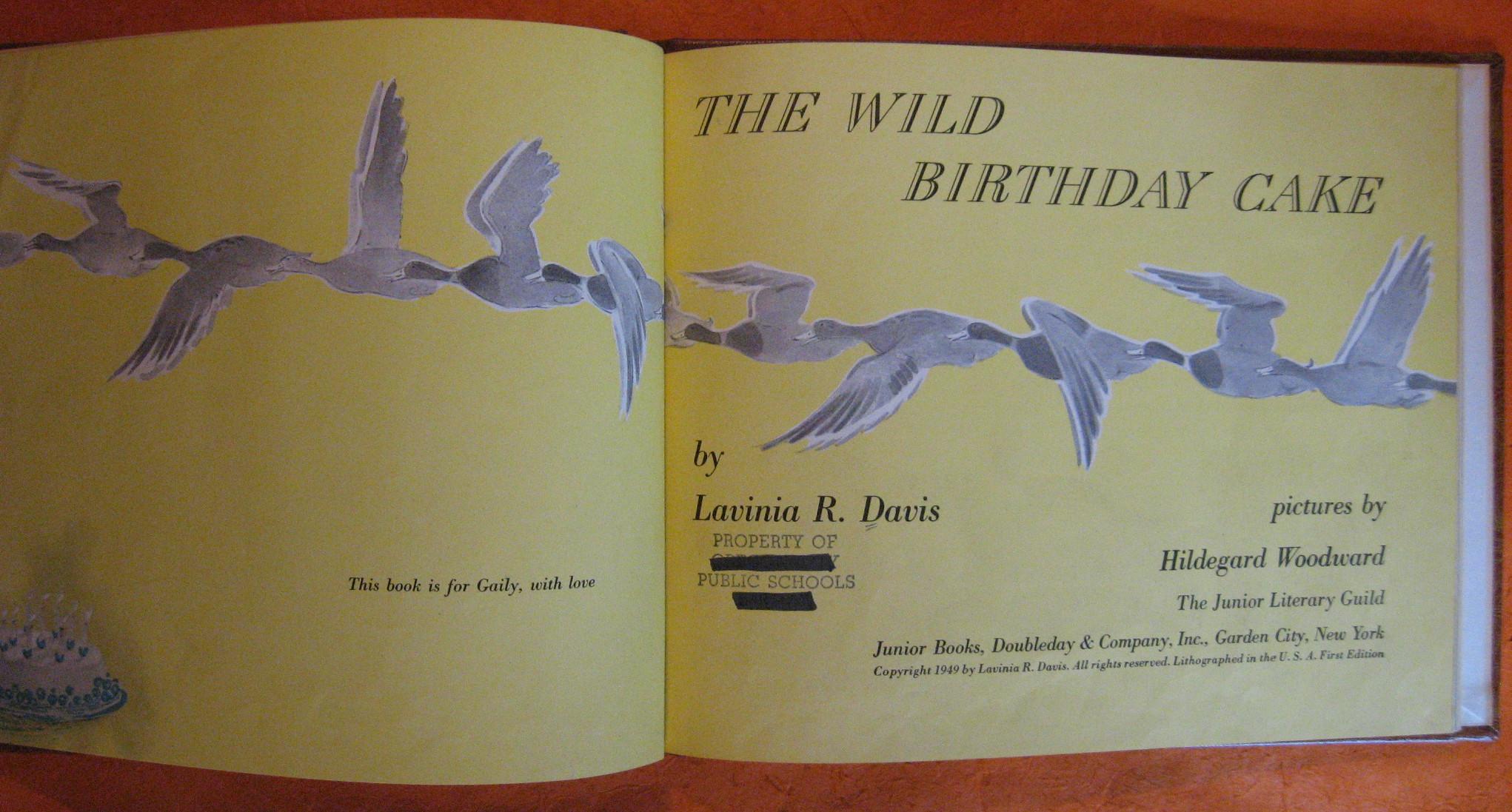 The Wild Birthday Cake, Davis, Lavinia R.