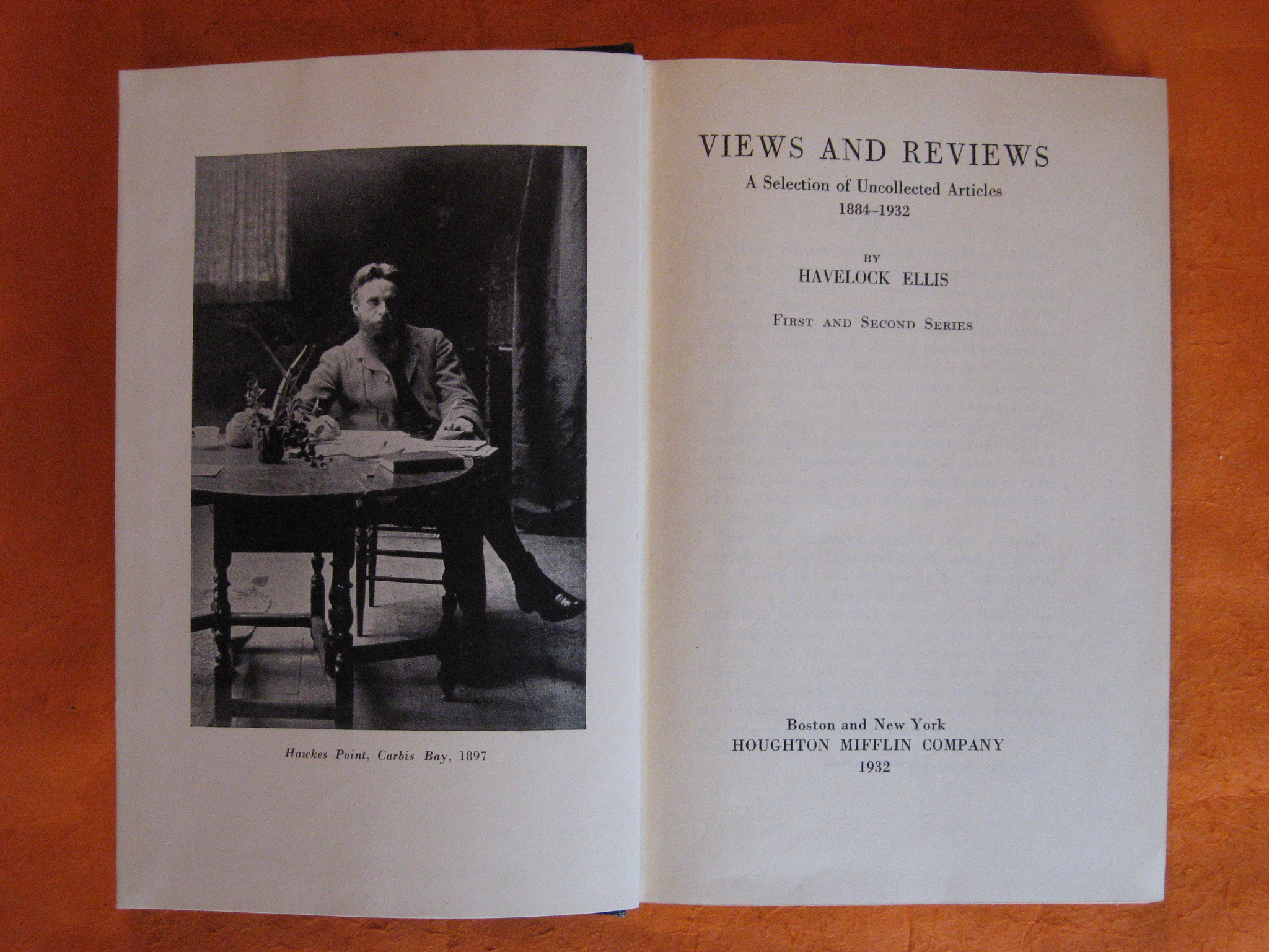 Views and Reviews:  A Selection of Uncollected Articles 1884-1932, Ellis, Havelock