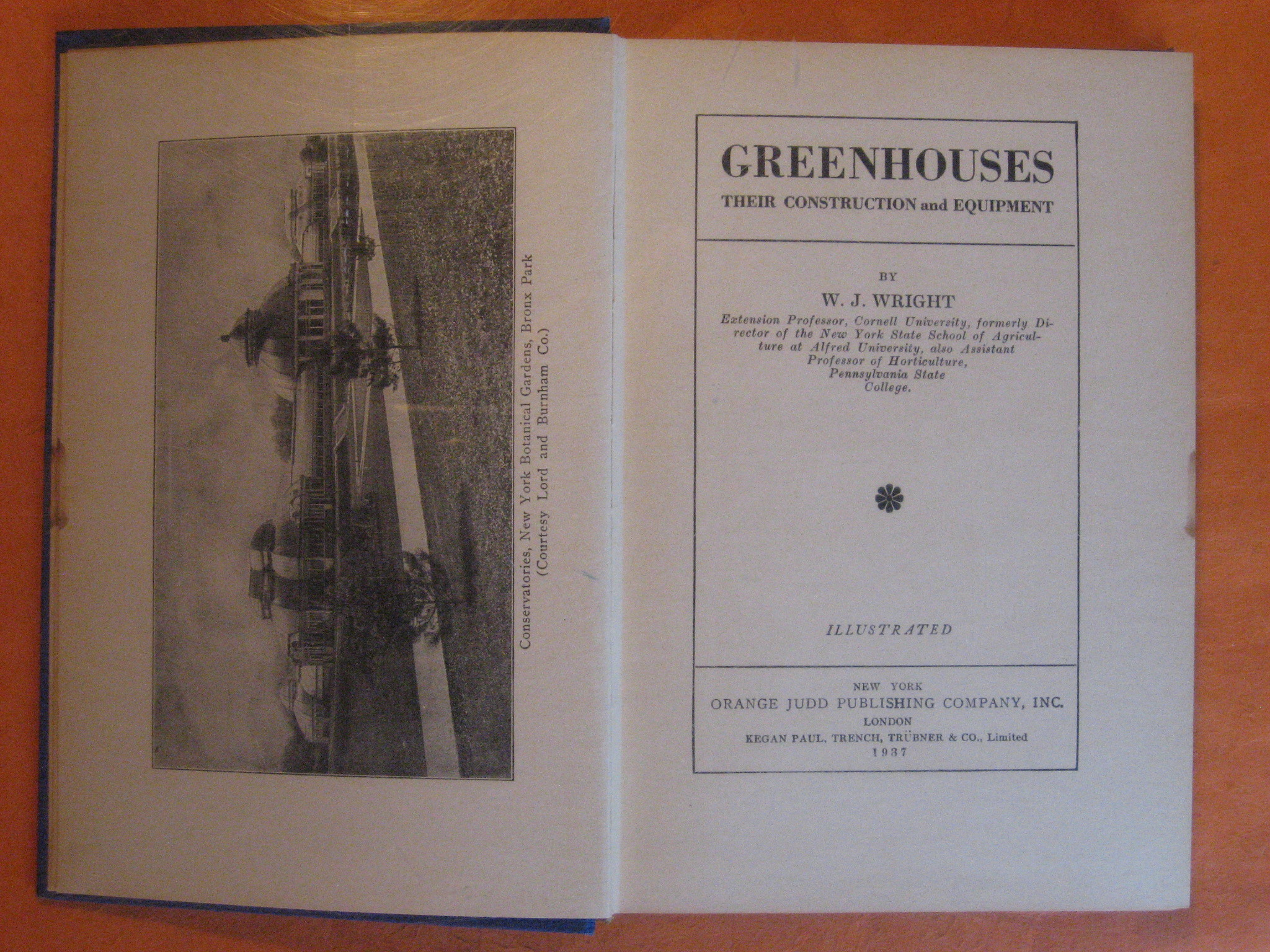 Greenhouses:  Their Construction and Equipment, Wright, W.J.
