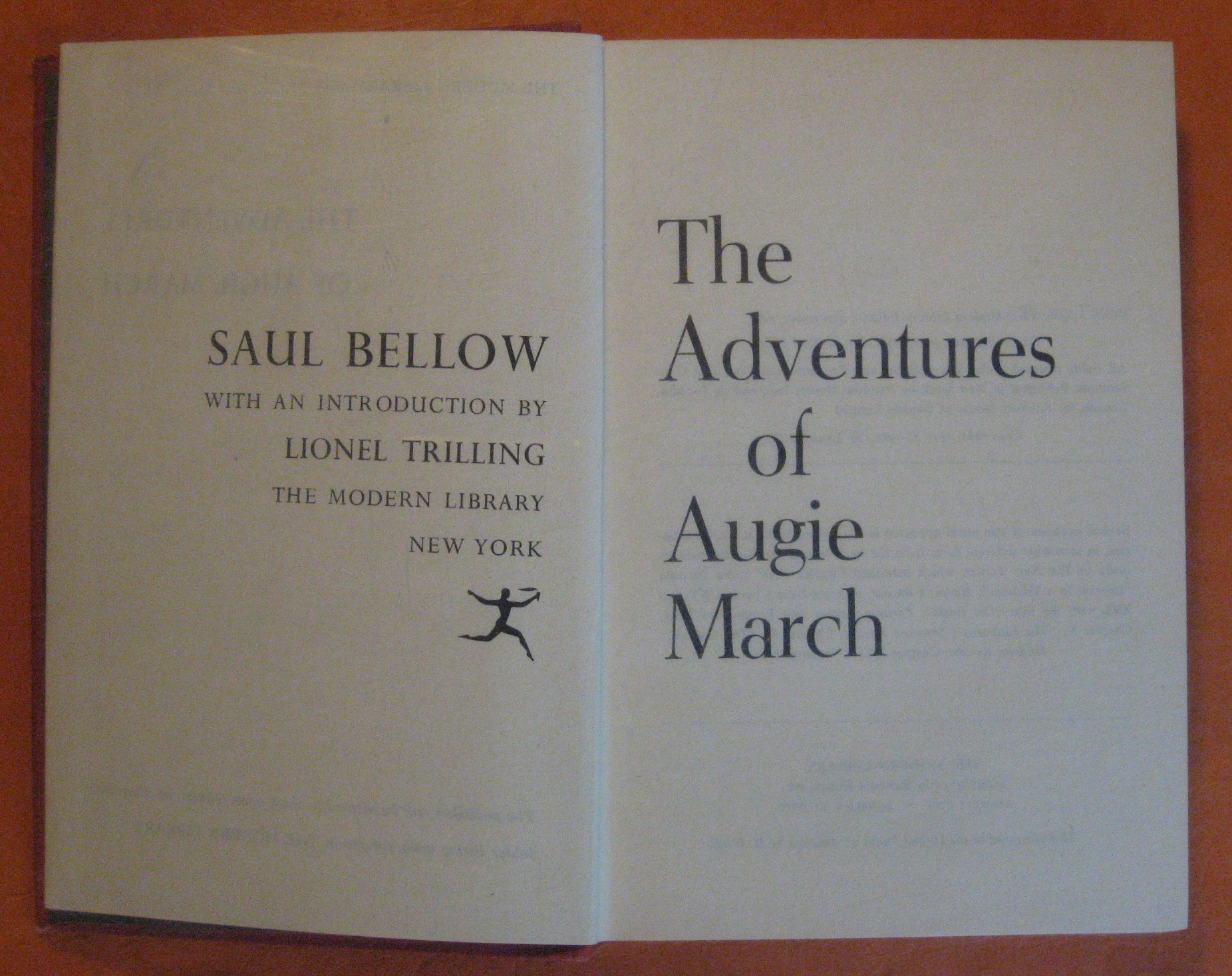 The Adventures of Augie March, Bellow, Saul
