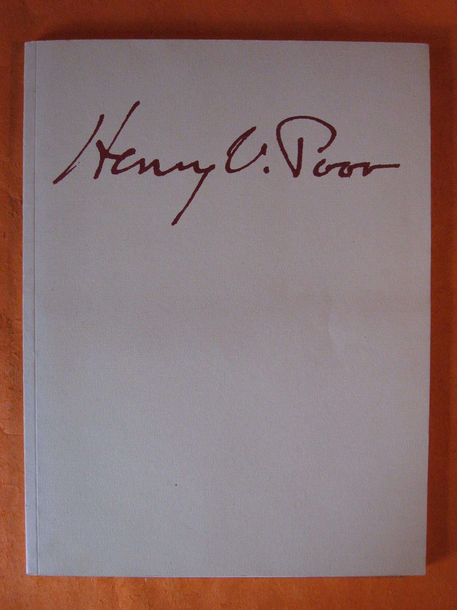 Henry Varnum Poor, 1887 -- 1970, a Retrospective Exhibition, Henry Varnum Poor