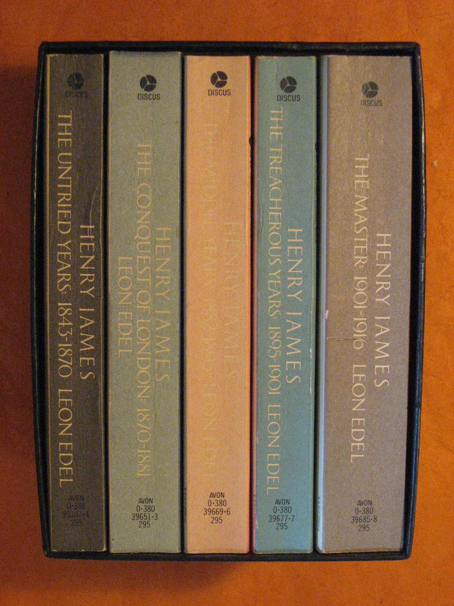 Henry James the Complete Biography -- 5 Vol. Boxed Set, Edel, Leon