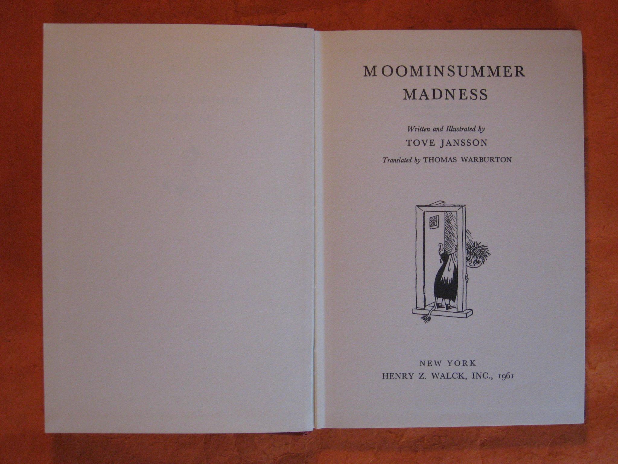 Moominsummer Madness, Jansson, Tove; Warburton Thomas (Translator)