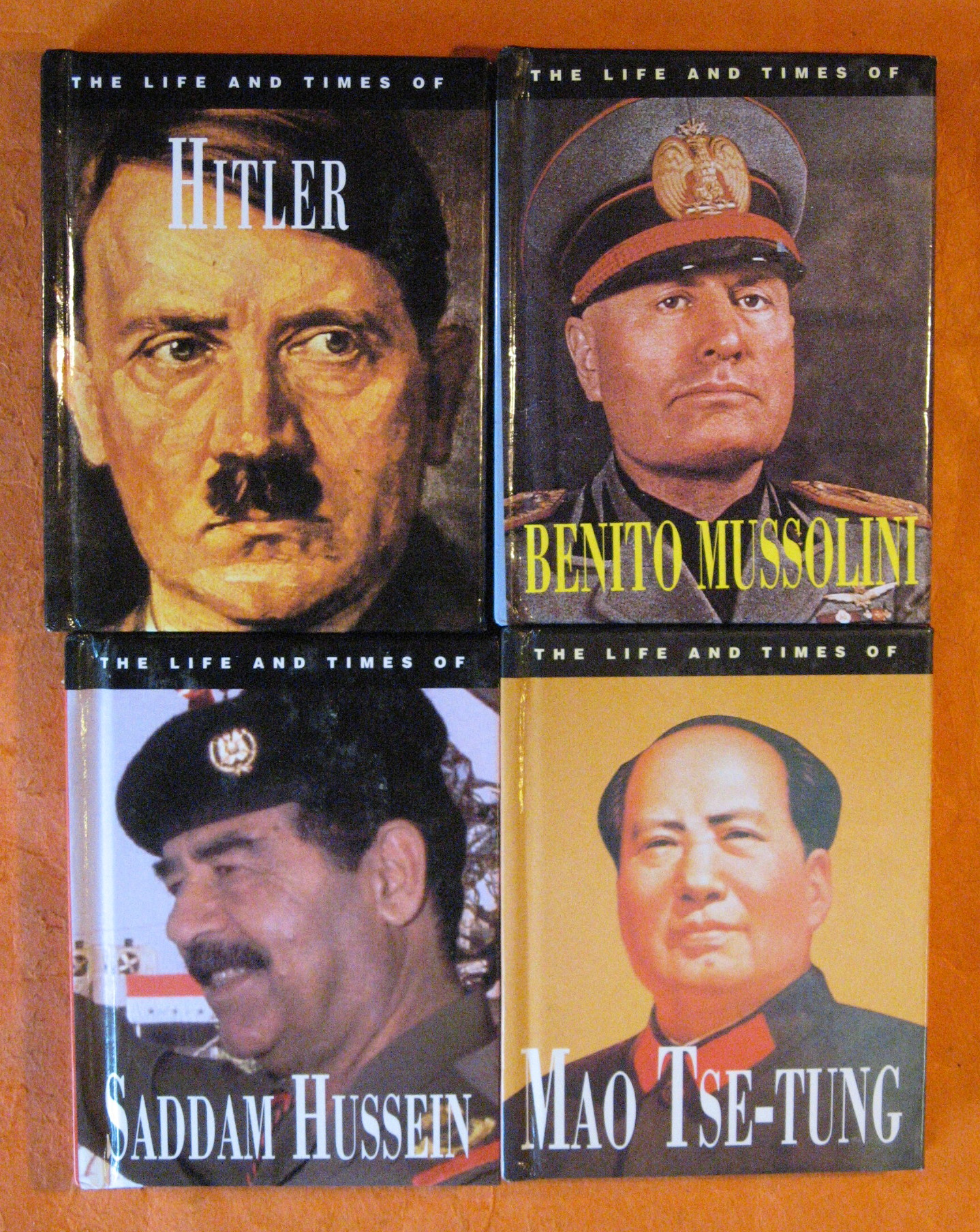 Four Tiny Books on Dictators - Mao Tse-Tung, Benito Mussolini, Hitler, and Saddam Hussein
