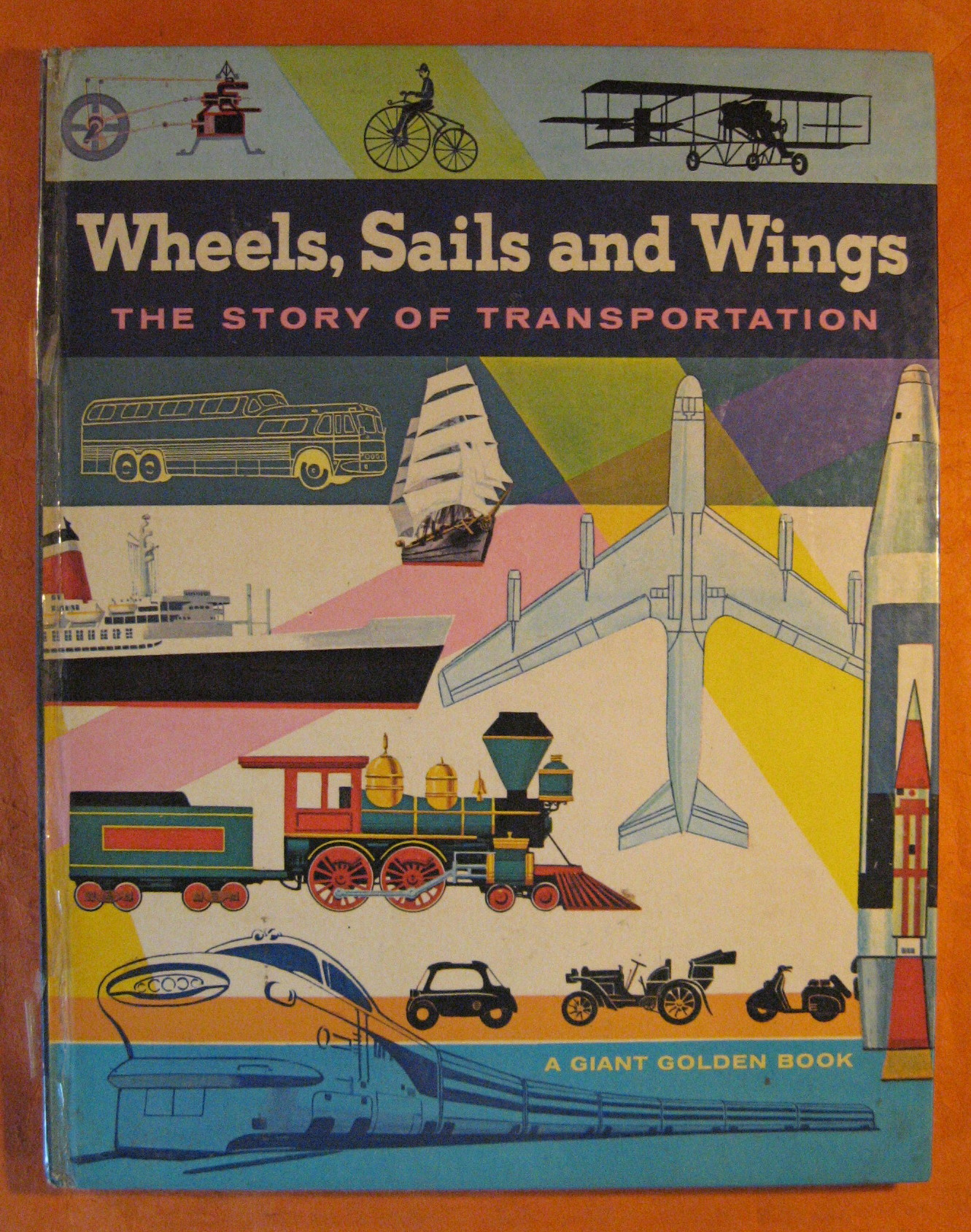 Wheels Sails and Wings:  The Story of Transportation (A Giant Golden Book), Dietrich, Fred; Reit, Seymour
