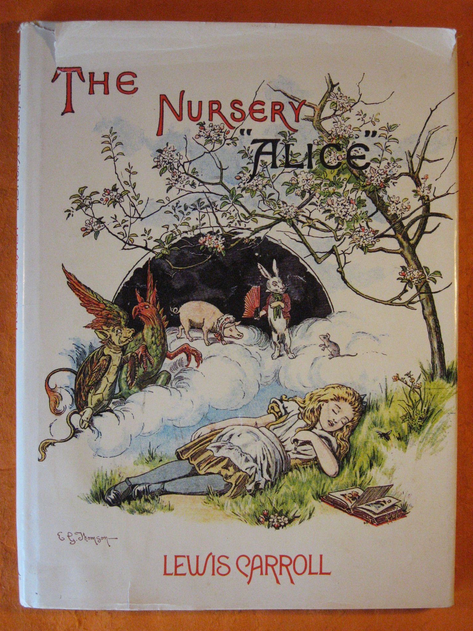 """The Nursery """"Alice"""":  Containing Twenty Coloured Enlargements from Tenniel's Illustrations to 'Alice's Adventures in Wonderland' with Text Adapted to Nursery Readers by Lewis Carroll, Carroll, Lewis"""