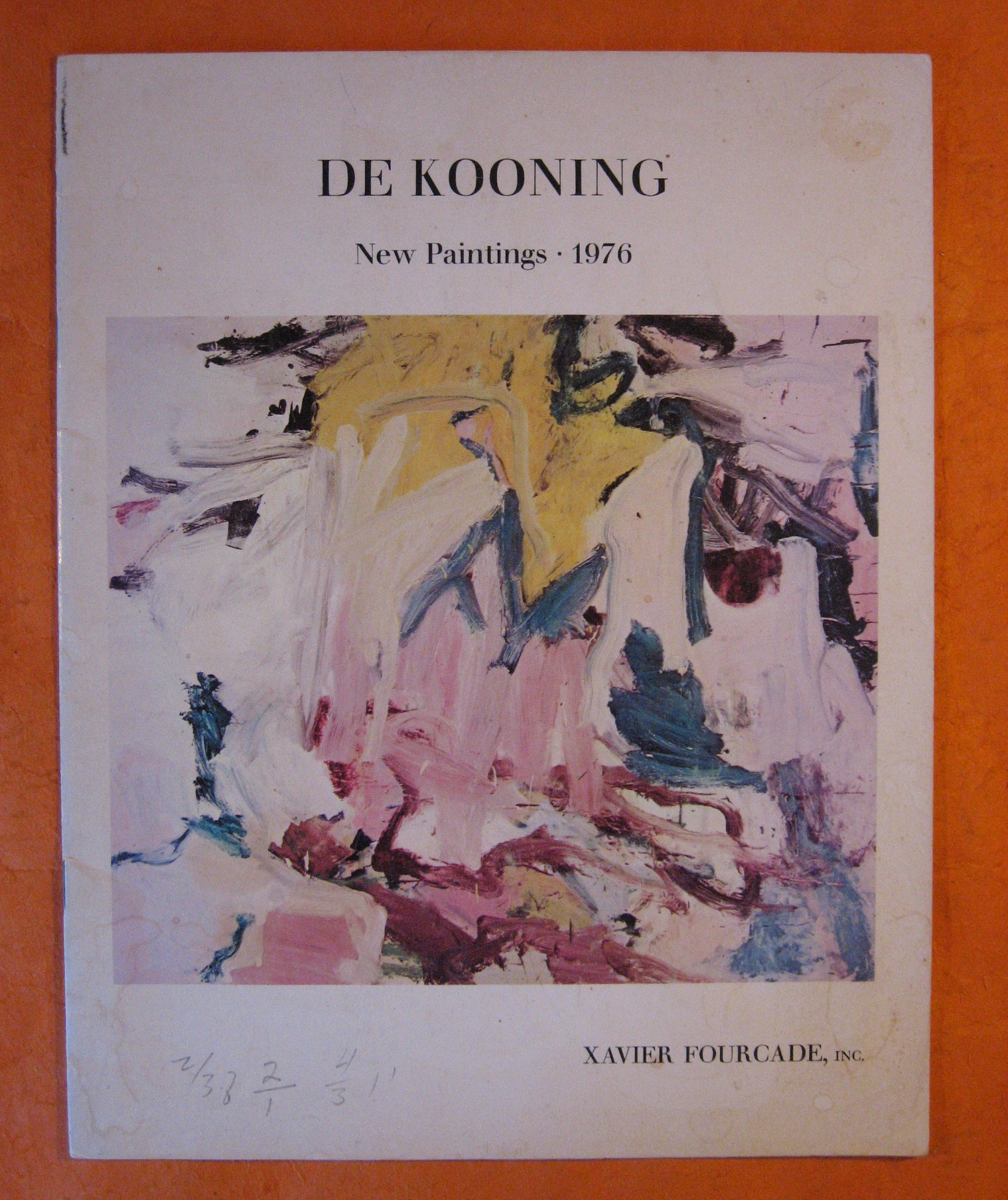 De Kooning:  New Paintings - 1976, De Kooning
