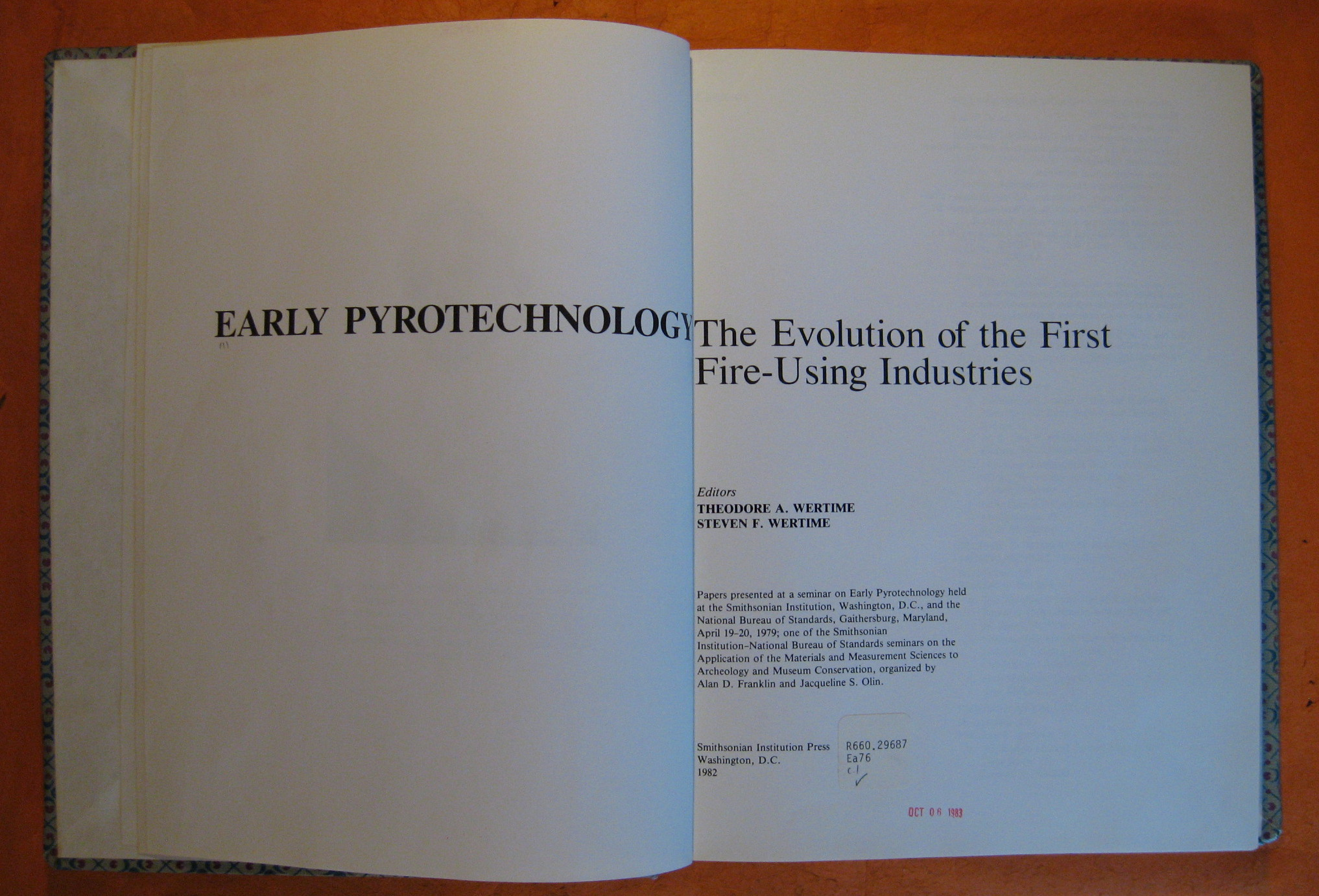 Image for Early Pyrotechnology:  The Evolution of the First Fire-Using Industries