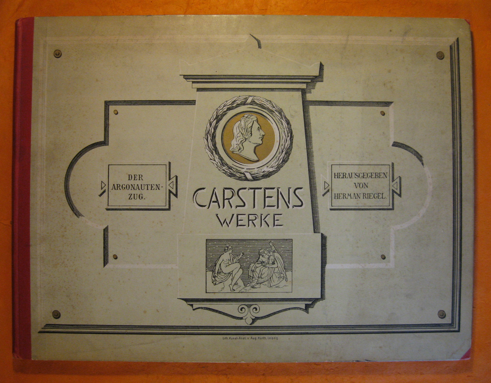 Carstens' Werke:  Dritter Band:  Der Argonautenzug, 11 Tafeln In Kupferdruck, 13 TAfeln in Lichtdruck Nebste Einem Bildniss Von Sartens, Gest. Von J.A. Koch