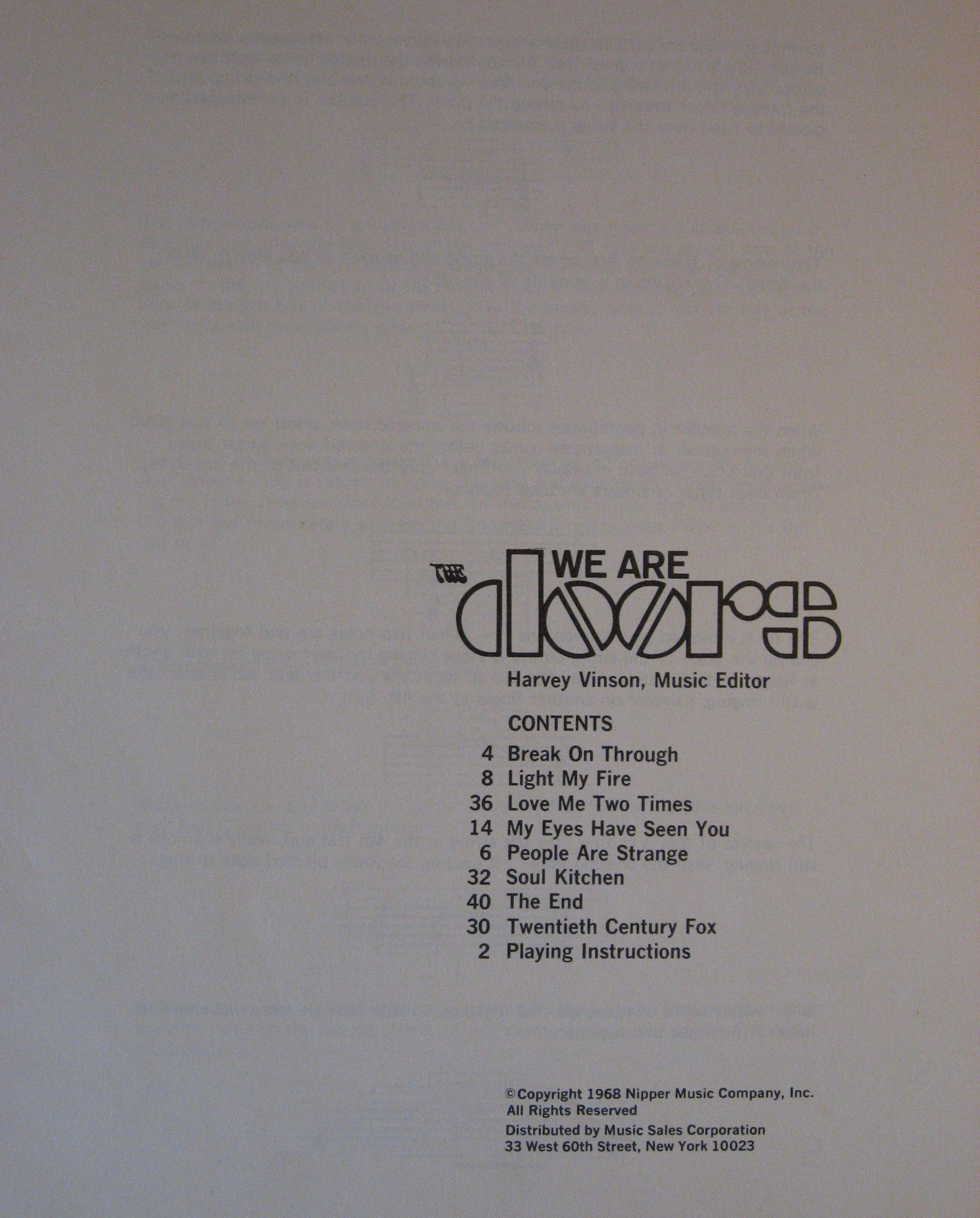 Image for We Are the Doors