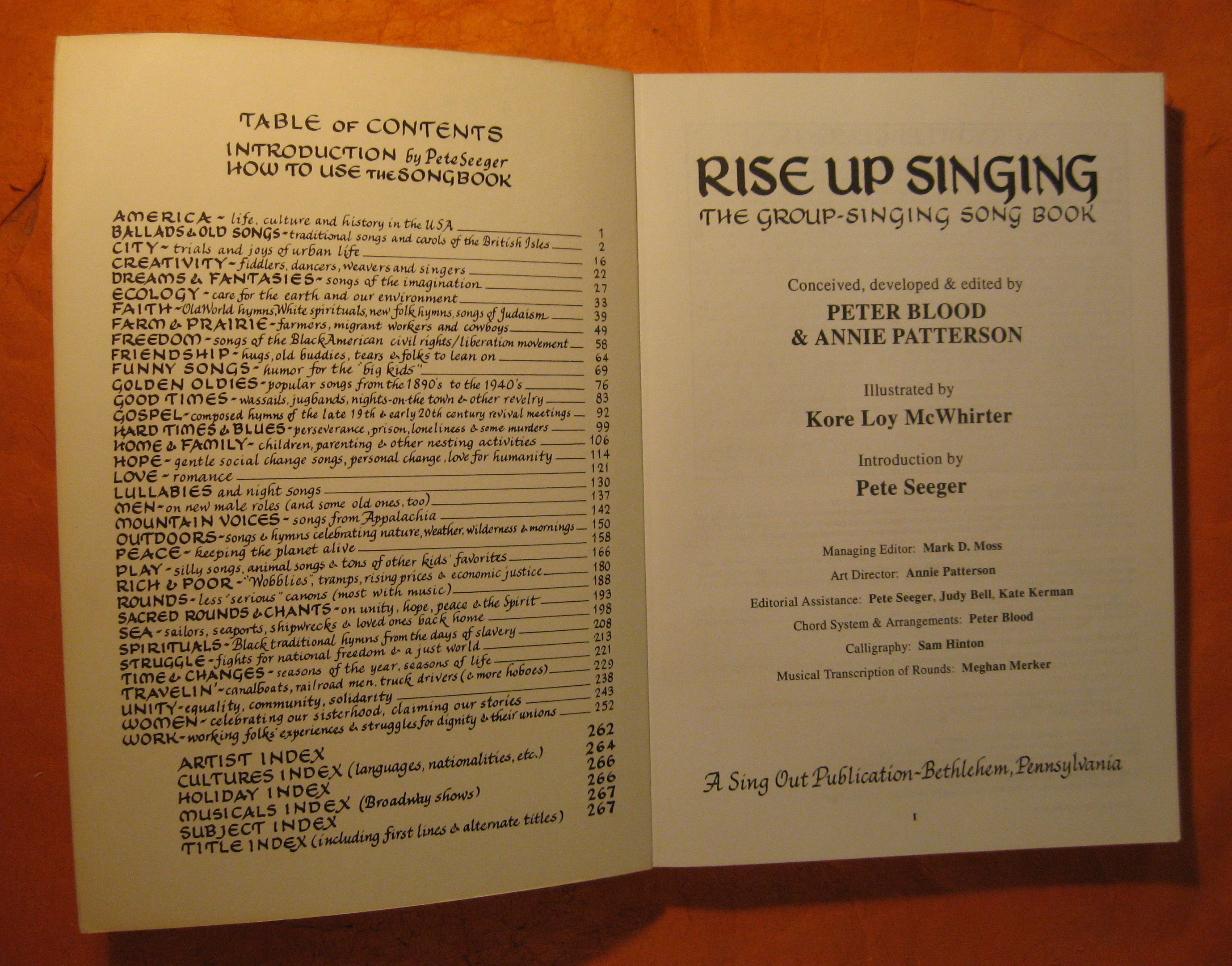 Image for Rise Up Singing:  The Group Singing Songbook, Words, Chords and Sources to 1200 Songs