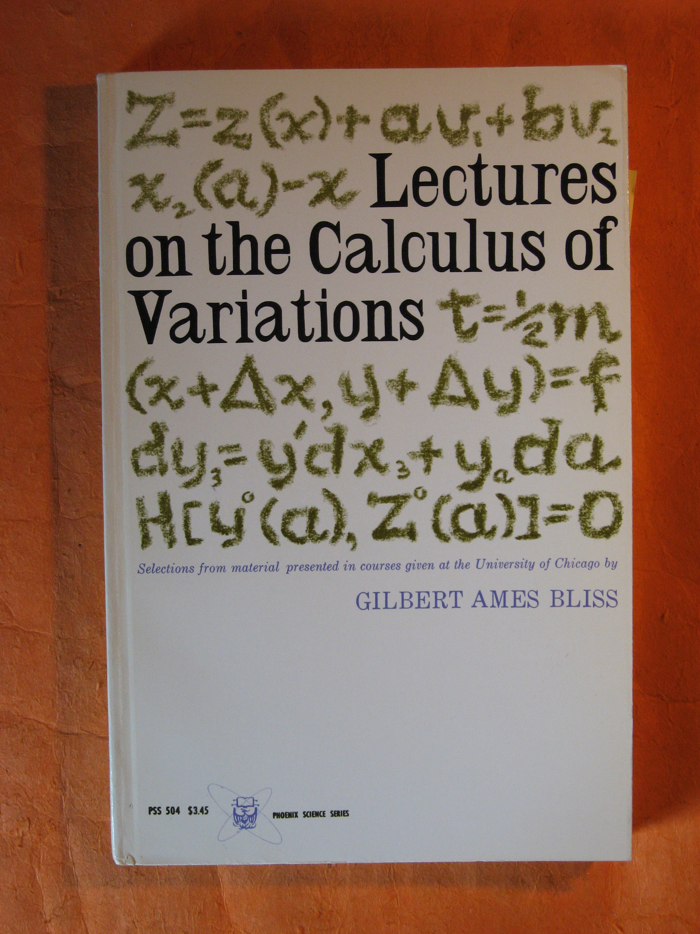 Image for Lectures on the Calculus of Variations