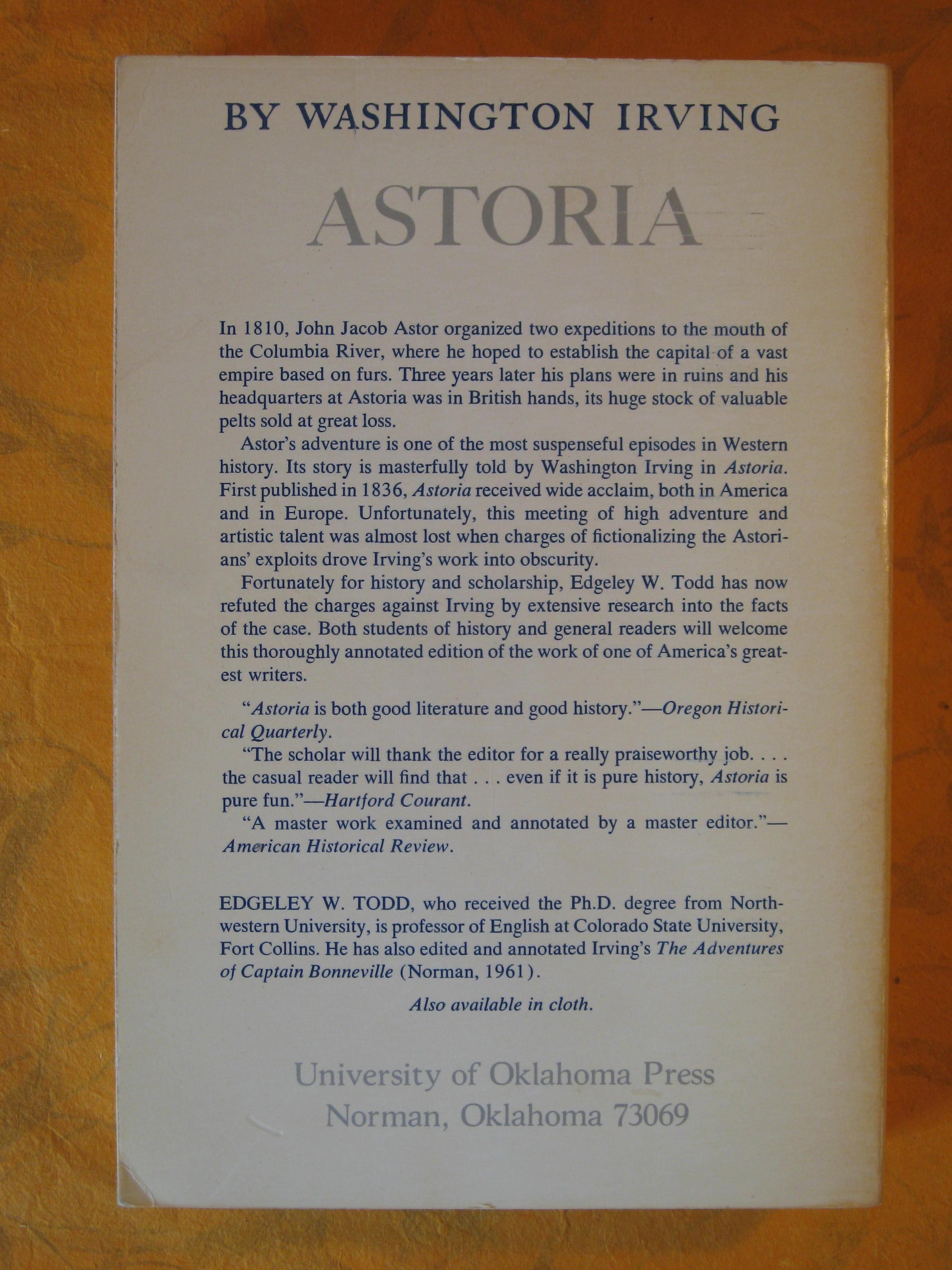 Image for Astoria:  Anecdotes of an Enterprise Beyond the Rocky Mountains