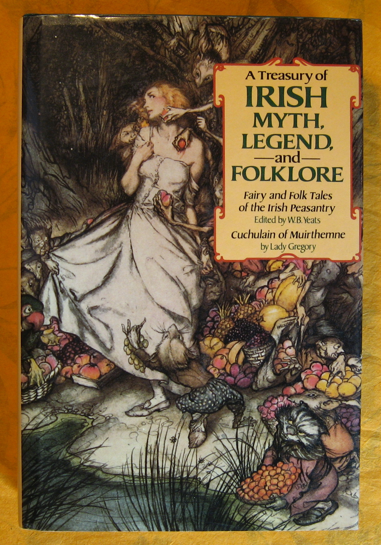 Image for A Treasury of Irish Myth, Legend & Folklore (Fairy and Folk Tales of the Irish Peasantry / Cuchulain of Muirthemne)